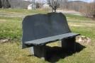 Ashfield Schist Backed Bench