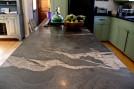 Quicksilver wraparound kitchen counter