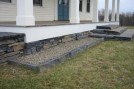 Steps, Wall stone and snapped stone used as edging. By Jared Flynn.