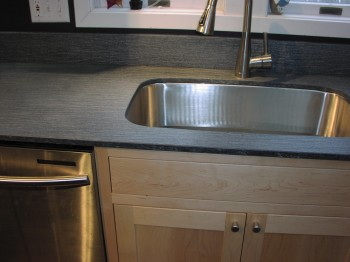 Satin Galaxy Counter with under mount sink
