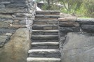Steps through wall