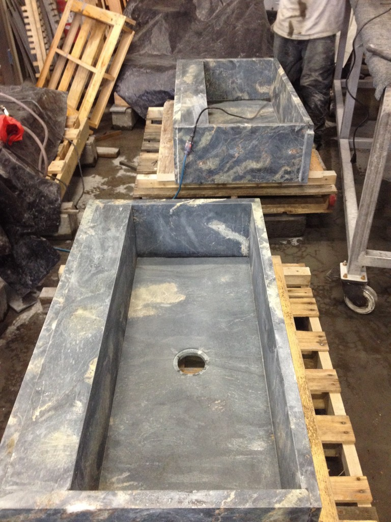 Pond Ice box sinks destined for Newport, RI